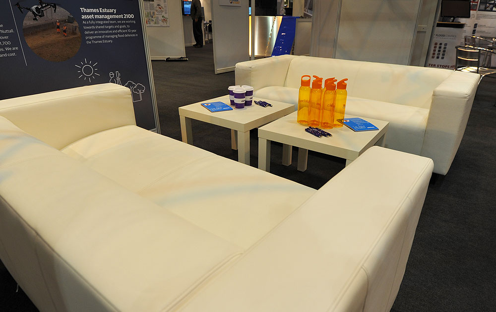 Exhibition Leather Settee Hire