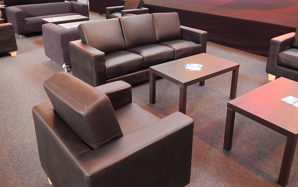 Leather Furniture Hire For Exhibitions