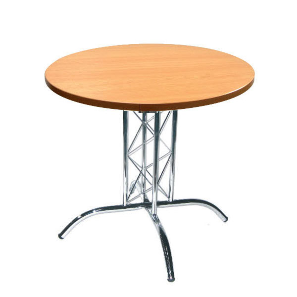 Round Lattice Table - Beech