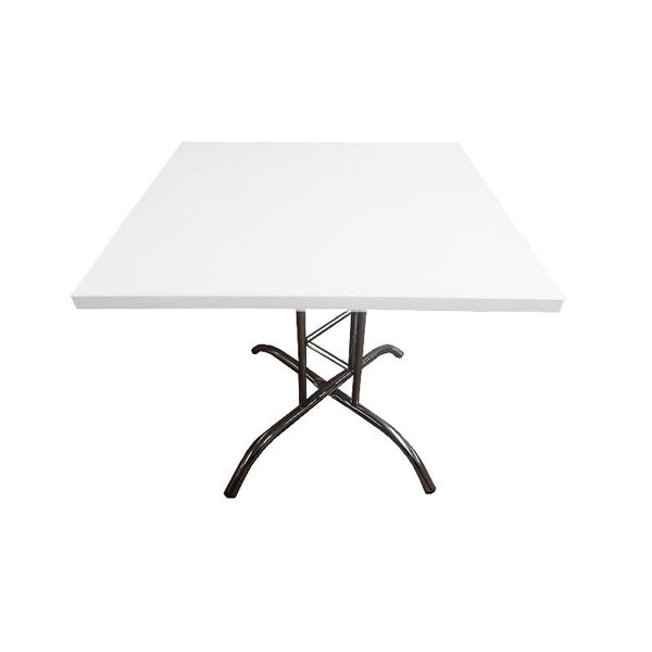 Square Lattice Table - White