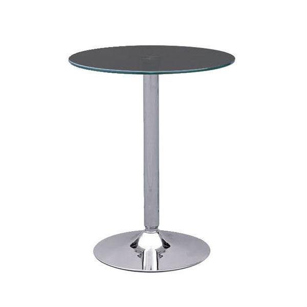 Ammon Poseur Table - Black Glass