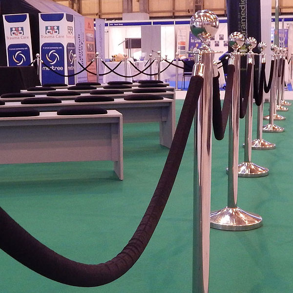 Exhibition Stand Hire Manchester : Exhibition barrier post hire eventex