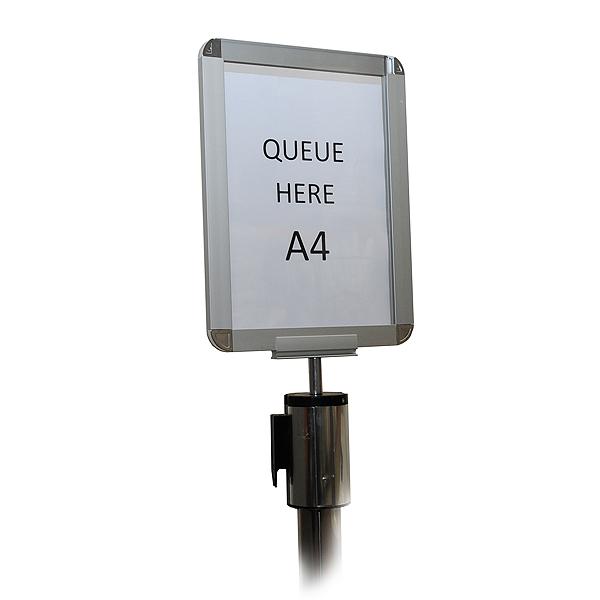 A4 Sign Holder For Chrome Tensabarrier