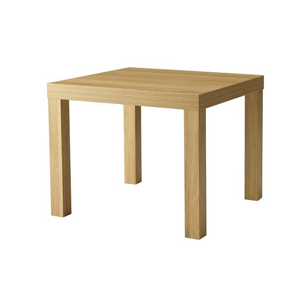 Square Oak Effect Coffee Table