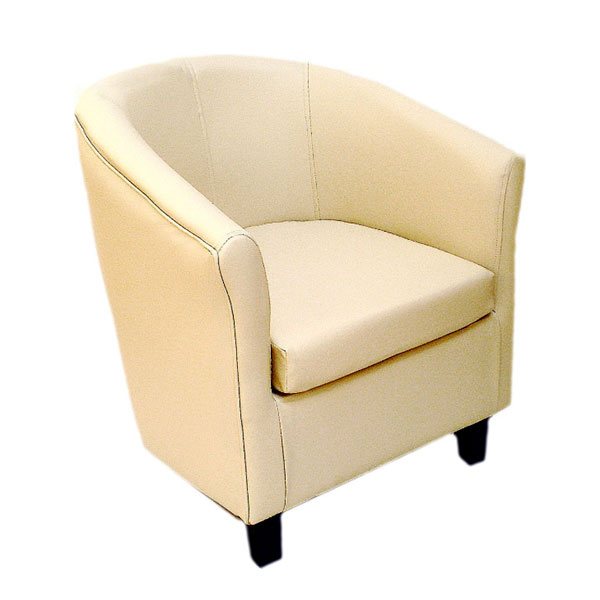 Club Leather Chair - Cream