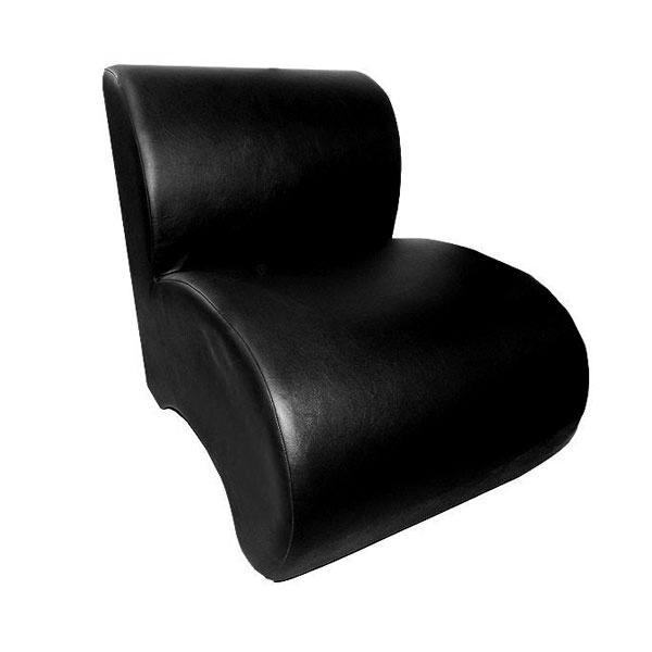 Leather Unit Chair - Black