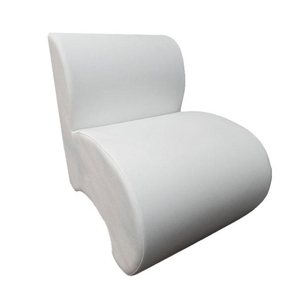 Leather Unit Chair - White