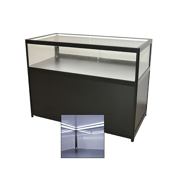 Low Black Jewellery Showcase With Cabinet