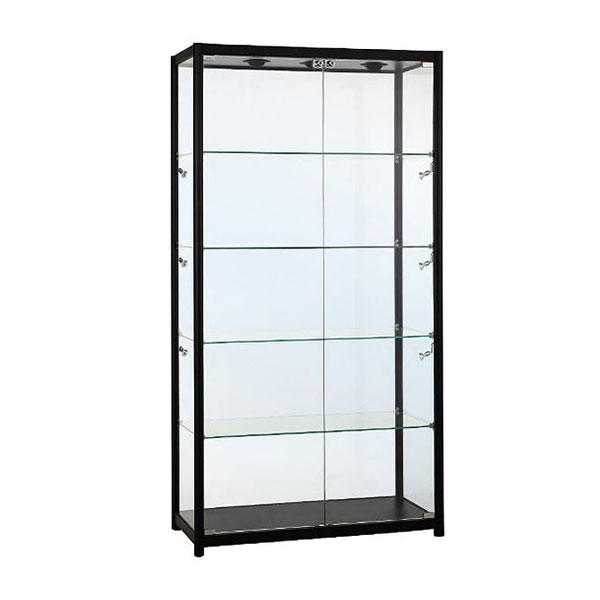 Tall Centre Showcase Black