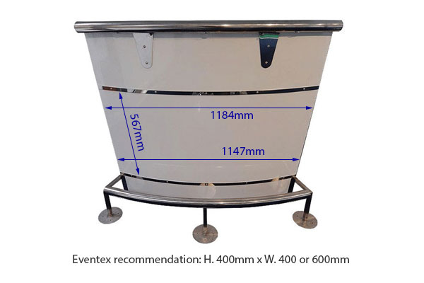 Curved Zip Bar Counter Hire