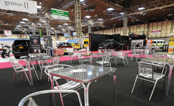 Cafe furniture hire for indoor exhibitions