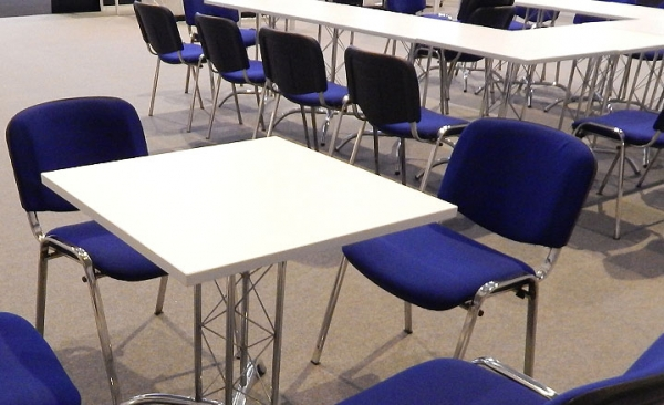 Exhibition table & chair hire