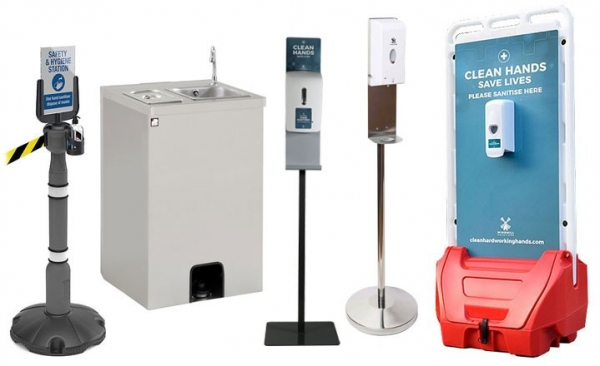 The complete range of hand sanitiser dispensers for exhibitions