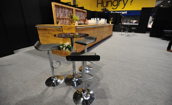 Stools & poseur tables rental for exhibitions