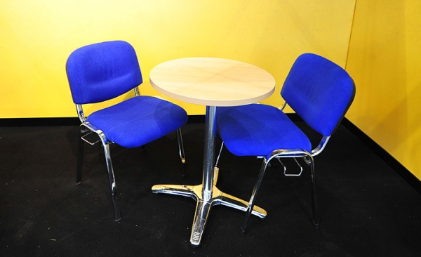 Table & chair hire for exhibitions