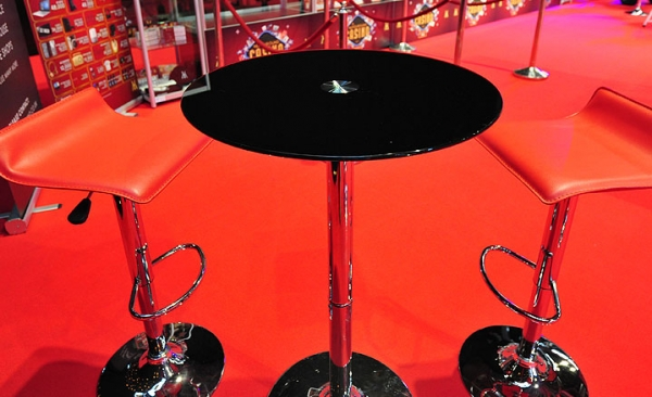 Table hire for exhibition stands