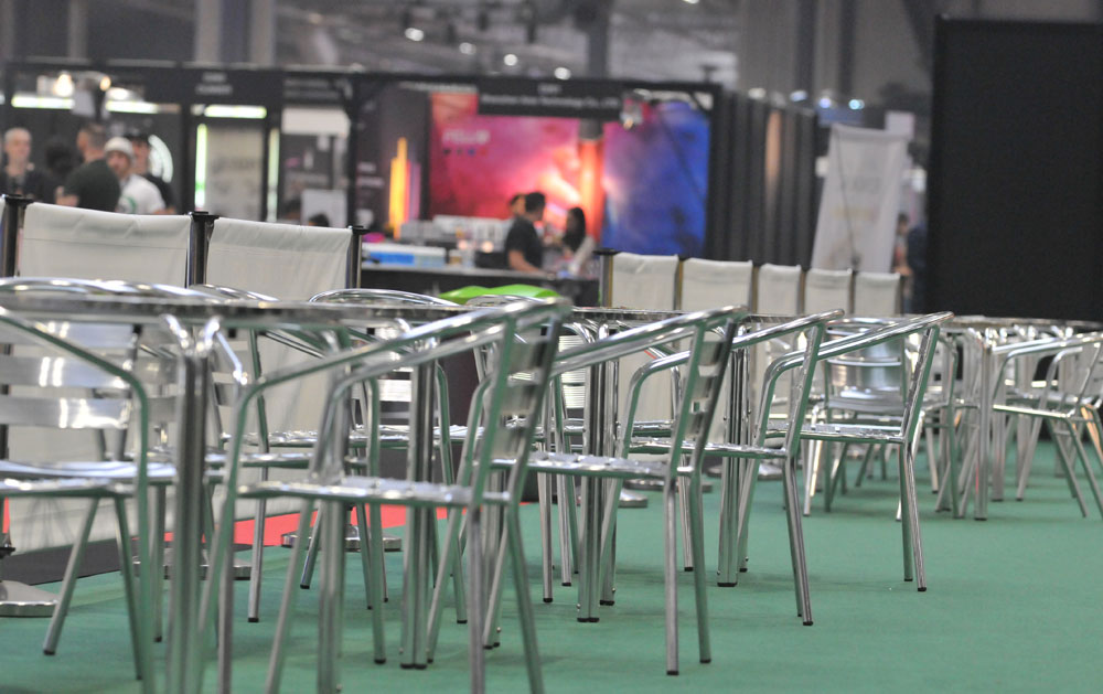 exhibition cafe furniture hire