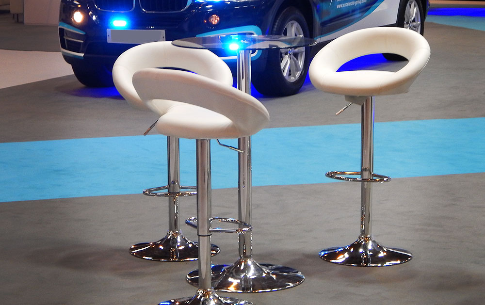 Exhibition Poseur Table Rental