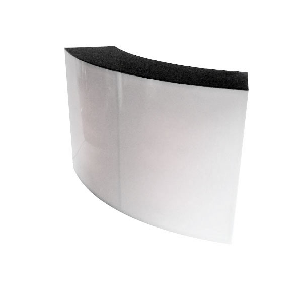 Curved White Counter