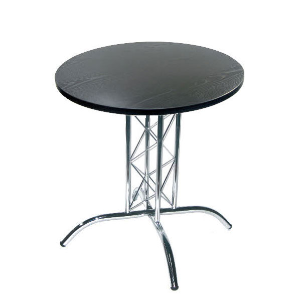 Round Lattice Table - Black