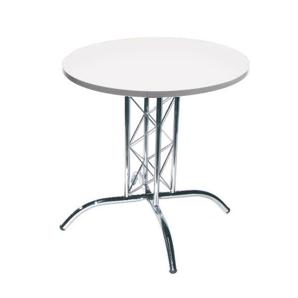Round Lattice Table - White