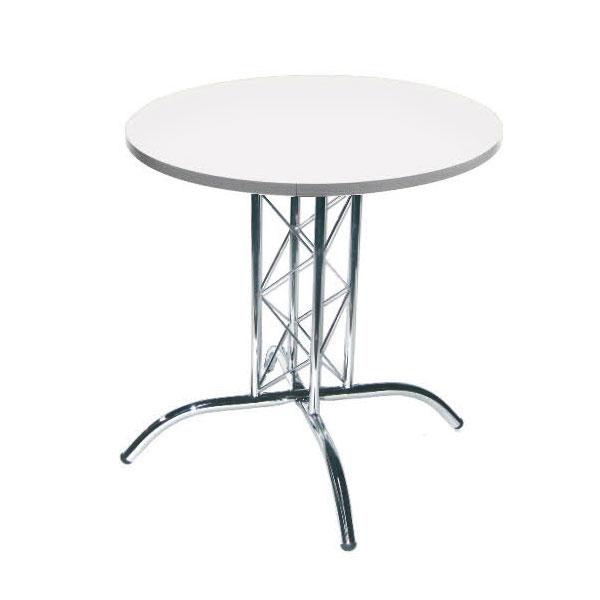 Round Lattice Table - White