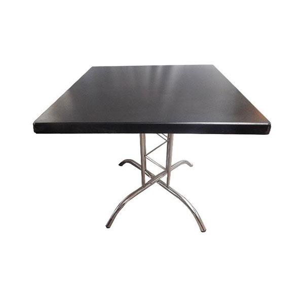 Square Lattice Table - Black