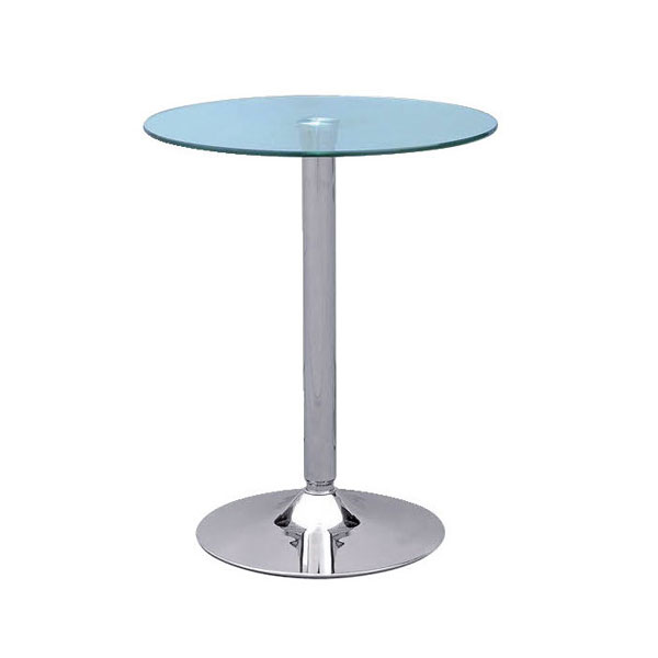 Ammon Poseur Table - Clear Glass