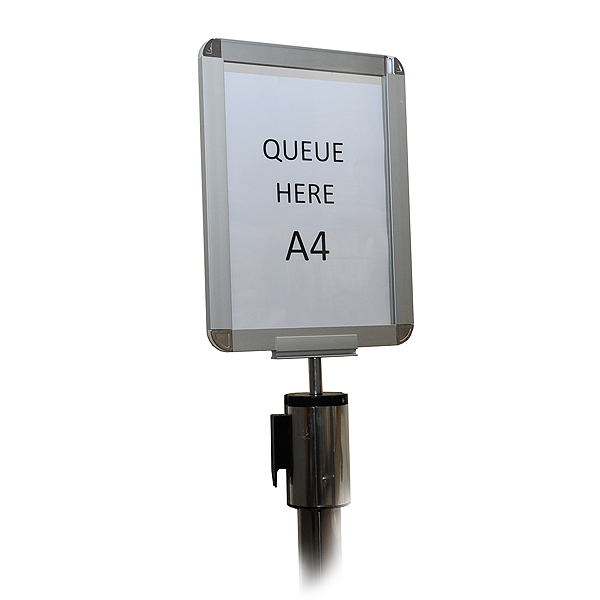 A4 Sign Holder For Chrome Retractable Barrier