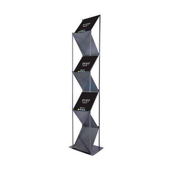 A4 Literature Rack - Silver