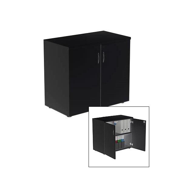 Lockable Cupboard - Black