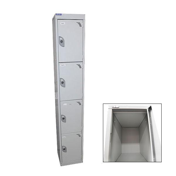 4 Compartment Locker - Grey