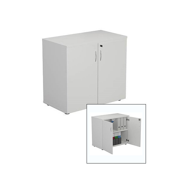 Lockable Cupboard - White