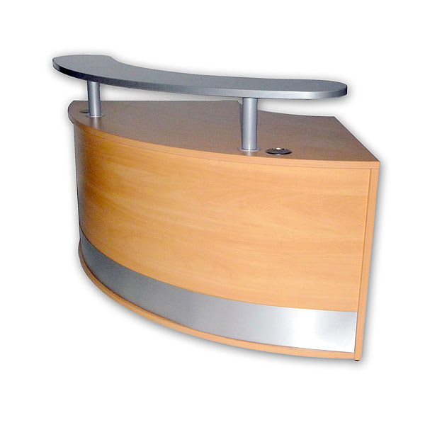 Reception Desk Curved Unit With Shelf