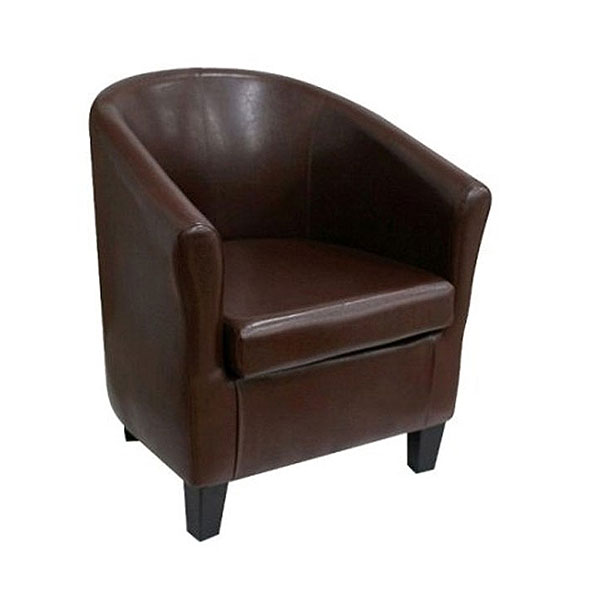 Club Leather Chair - Brown