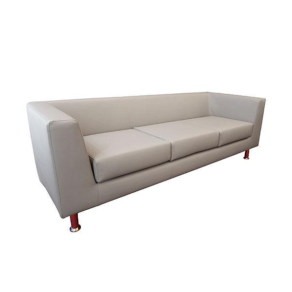 Infiniti 3 Seater Leather Sofa - Grey