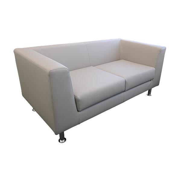 Infiniti 2 Seater Leather Sofa - Grey