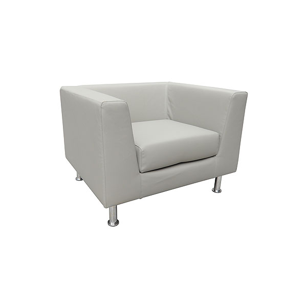 Infiniti Leather Armchair - Grey