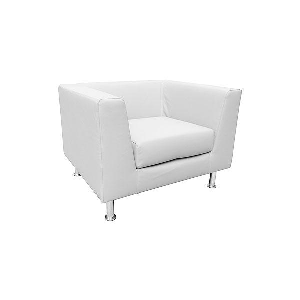 Infiniti Leather Armchair - White