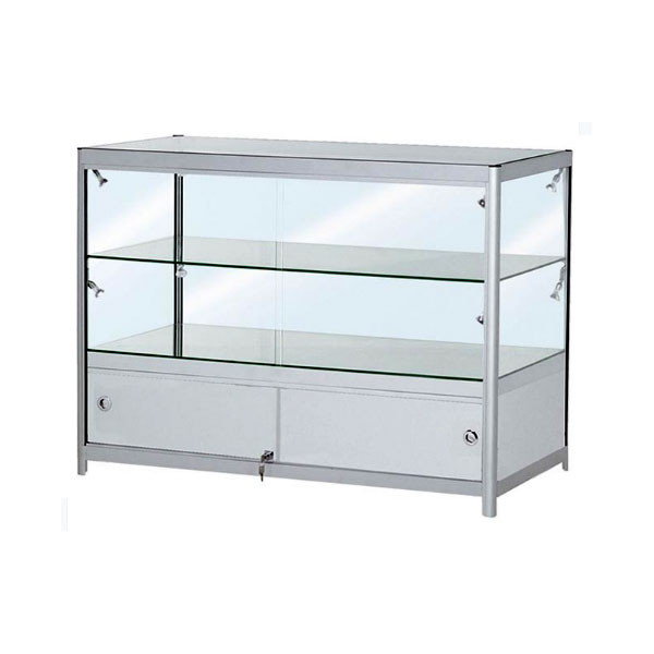 Dual Tier Low Showcase With Cabinet