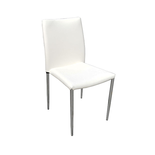 Rio Chair - White Faux Leather