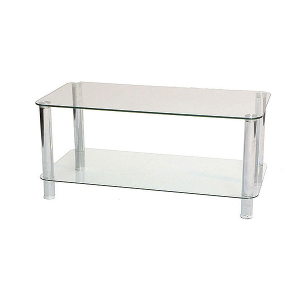 Two Tier Coffee Table - Glass / Chrome
