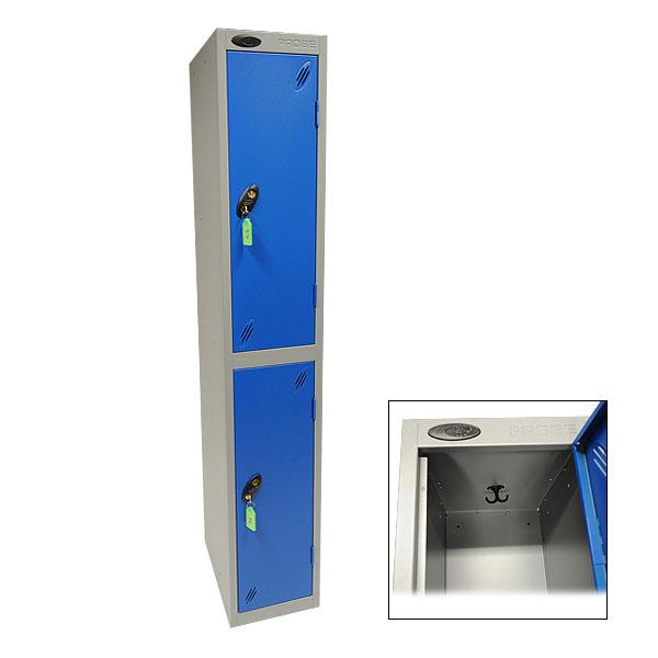 2 Compartment Locker - Blue & Grey