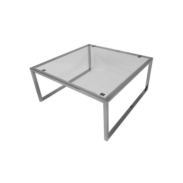 Square Genoa Coffee Table - Clear Glass