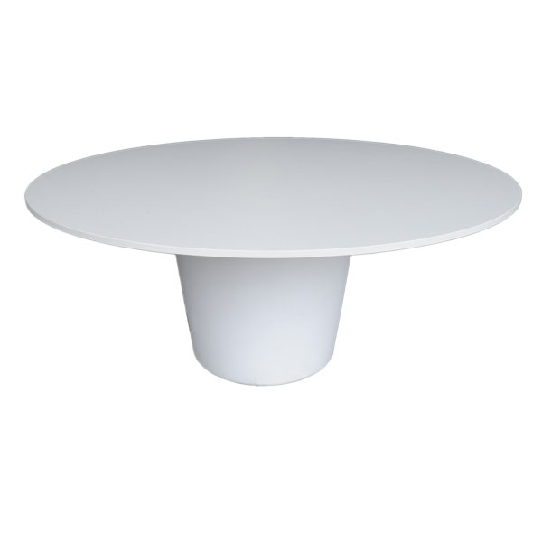 Round Meeting Table - Crystal White