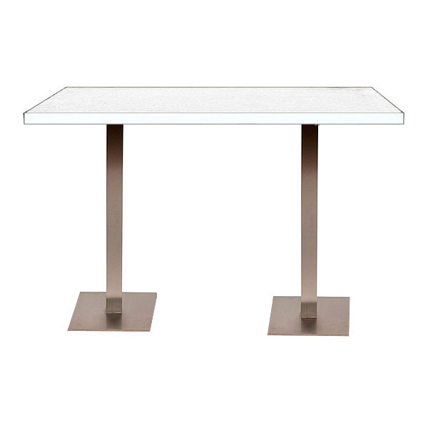 Double Piazza High Table - White