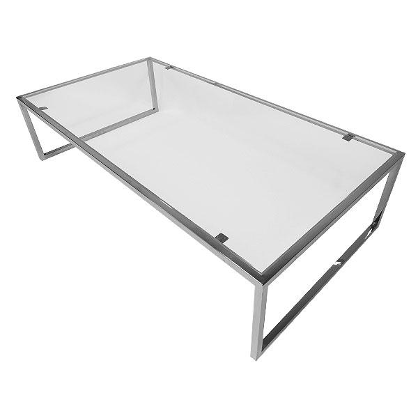 Rectangular Genoa Coffee Table - Clear Glass