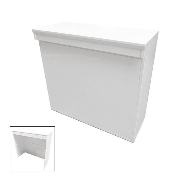 White Modular Linear Reception Desk