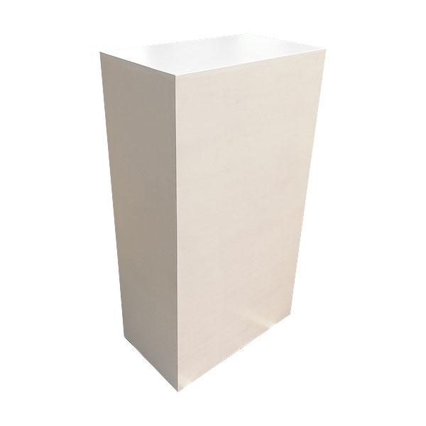 Wooden Plinth - White