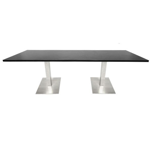 Double Piazza Bistro Table - Black
